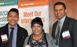 Photo of three indigenous interpreters