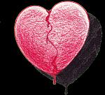 Drawing of broken heart